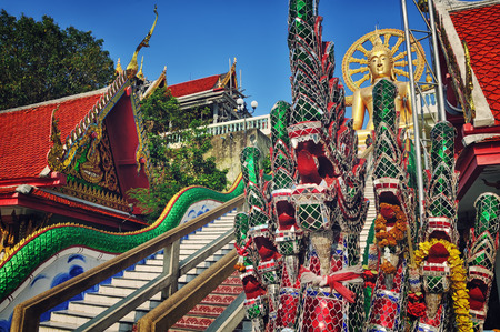 Famous Big Budda religious monument in Koh Samui, Thailand photo