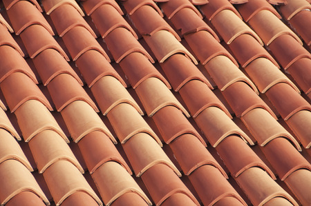 rood: Close view of famous red rood tiles in Dubrovnik, Croatia Stock Photo