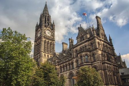 マンチェスター市庁舎、イギリス 写真素材