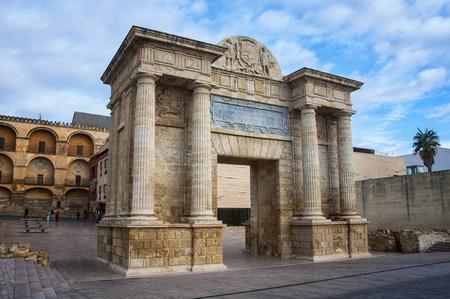 touristic: Bridge gate in Cordoba, Andalusia, Spain. popular touristic landmark