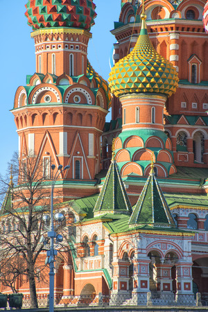 Close view of Saint Basil Cathedral, Russia on Red Square photo