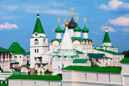 novgorod: Pechersky Ascension Monastery in Nizhny Novgorod, Russia in summer. It is an important spiritual and religious center of the principality and the seat of the Bishop