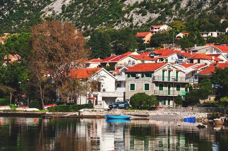 boka: Boka Kotor bay with the view at the Perast, Montenegro