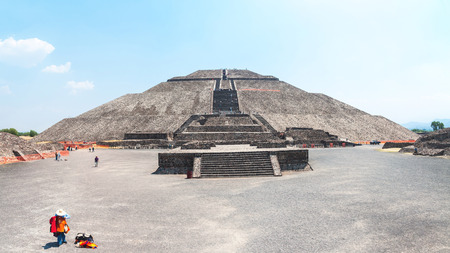 mayan culture: Pyramid of the Sun, Teotihuacan Pyramids, Mexico. Excellent example of Mayan culture