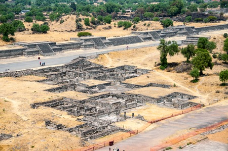 mayan culture: Ruins of Teotihuacan Pyramids, Mexico. Excellent example of Mayan culture