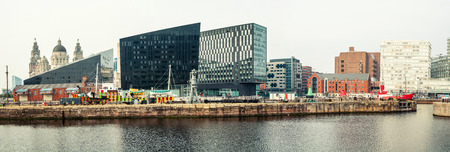 mercantile: LIVERPOOL, UK - SEPTEMBER 5, 2014: Albert Dock - complex of buildings and warehouses opened in 1846, part UNESCO designated World Heritage Maritime Mercantile City