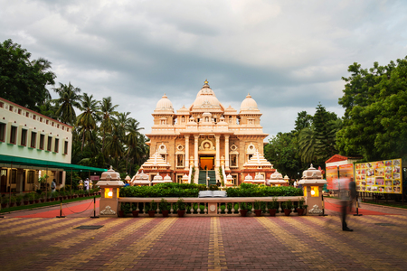 Sri Ramakrishna Math historical building in Chennai, Tamil Nadu, India in the evening with cloudy sky Stock Photo