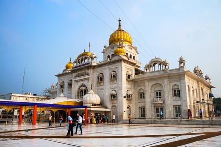 DELHI, INDIA - JULY 5, 2016: Gurudwara Bangla Sahib sikh temple, most popular landmark in Delhi the capital of India.