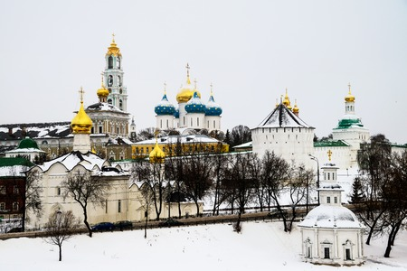 The Trinity Lavra of St. Sergius - a Russian monastery in Sergiev Posad, RUssia Stock Photo