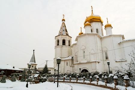 Tyumen, Russia. Holy Trinity monastery in winter Stock Photo