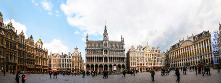 Historical houses at the Grand Place in Brussels, Belgium