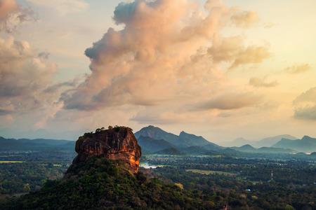 Sunset over the Lion Rock in Sigiriya, Sri Lanka Stok Fotoğraf - 81313049