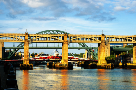 The High Level Bridge in Newcastle upon Tyne, UK Stock Photo