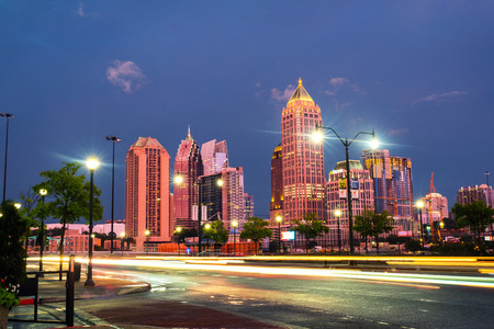 Illuminated Midtown in Atlanta, USA at night