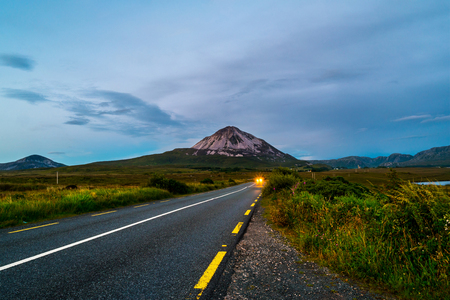 Mountain Errigal in Donegal county, Ireland
