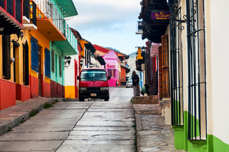 Streets in San Cristobal de las Casas, Mexico Фото со стока
