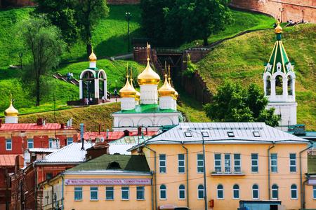 Church of the Nativity of John the Precursor in Nizhny Novgorod, Russia in summer