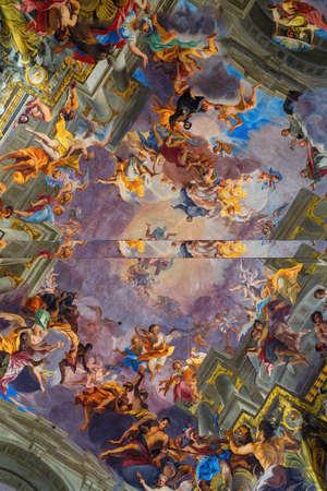 Interiors of Church of St. Ignatius of Loyola at Campus Martius in Rome, Italy