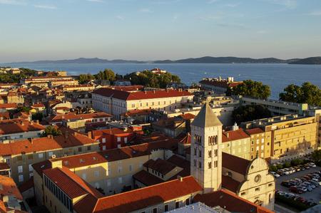 Zadar city buildings in Croatia in summer.