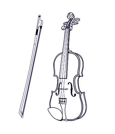 orchestral: violin Illustration