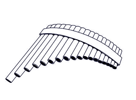 panpipes: pan flute Illustration