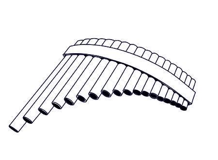 pan: pan flute Illustration
