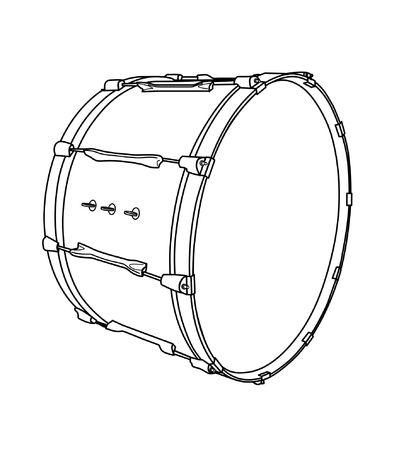 バスドラム  イラスト・ベクター素材