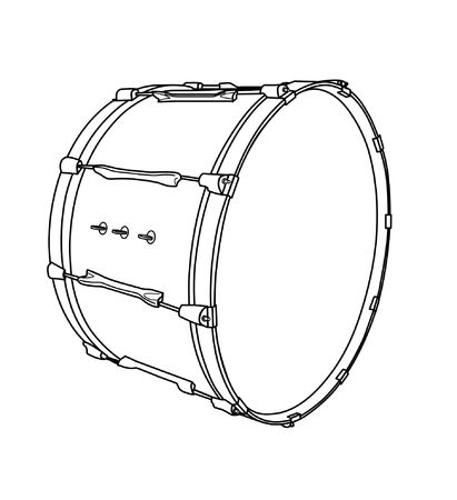 bass drum: bass drum Illustration