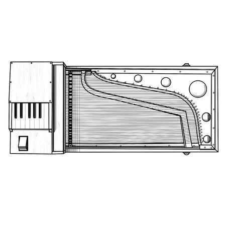 stringed: clavichord gusli