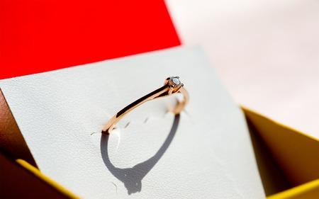 round brilliant: Anillo de promesa brillante diamante redondo de Oro