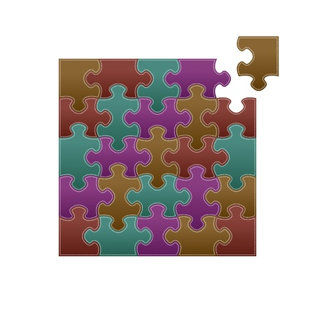 stitched puzzle pattern Stock Vector - 17257955