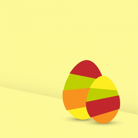 Two Easter Eggs Stock Vector