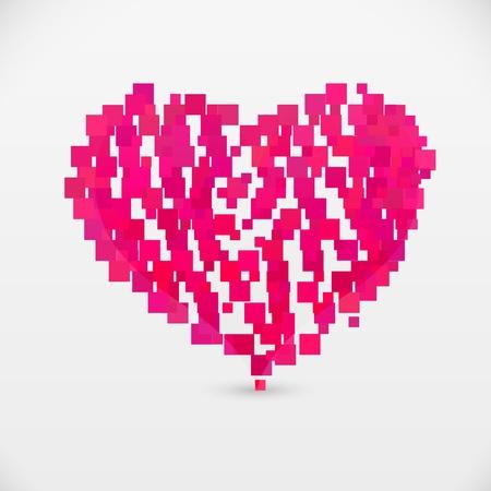 contemporary art heart Illustration
