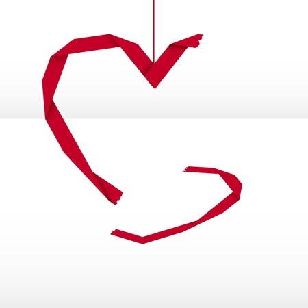 abandono: coraz�n roto Vectores