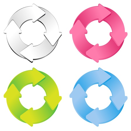 color cycle diagram Vector