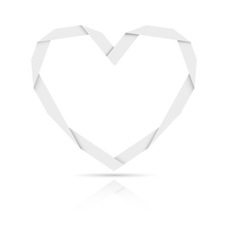 origami paper heart Stock Vector - 17285338