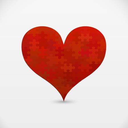 Rompecabezas corazón Foto de archivo - 17285341