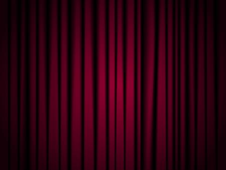 Fondo de la cortina roja del teatro con las esquinas oscuras Foto de archivo - 17428987
