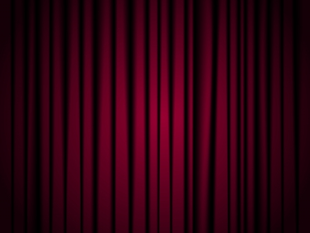 Red theatre curtain background with dark corners  Vector