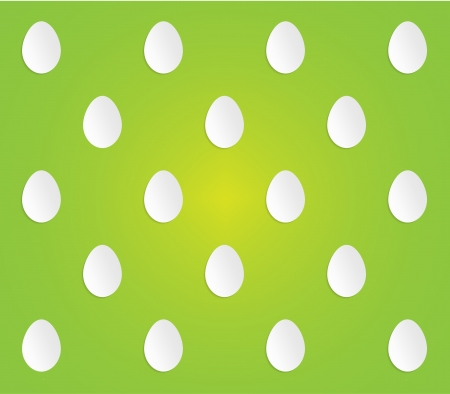 Easter pattern made out of eggs  Vector
