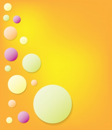 bubles: Abstract fresh summer colors bubles with sunny background  Illustration