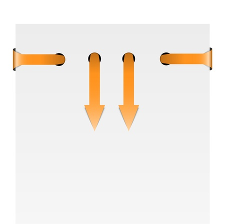 Two orange isolated down arrows graphic element  Stock Vector - 17696111