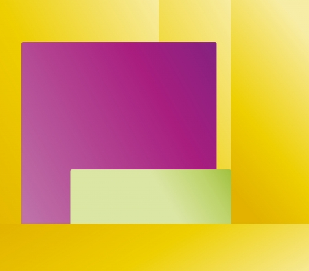 Abstract yellow, green and purple square background Stock Vector - 17696396