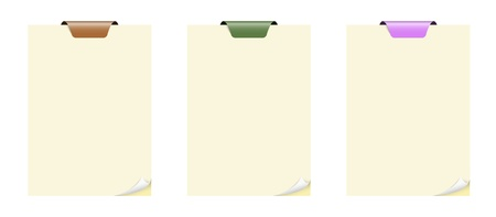 Set of blank color notepads with folded corner Stock Vector - 17805156