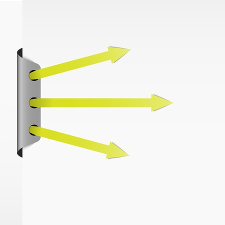 shootout: Set of three green arrows in shootout position  Illustration