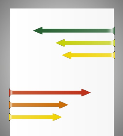 contrary: Set of color contrary directin folded arrows  Illustration