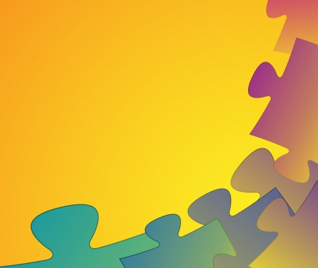 Stylish vibrant abstract colorful puzzle pieces background  Vector