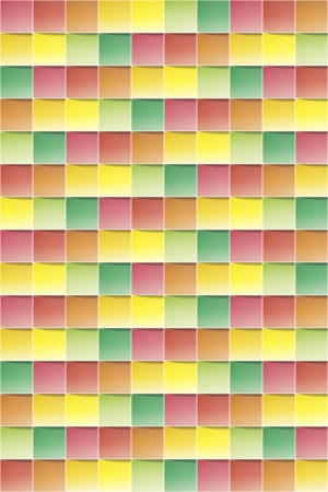 Abstract colorful background made out of vaus squares   square background Stock Vector - 18140631