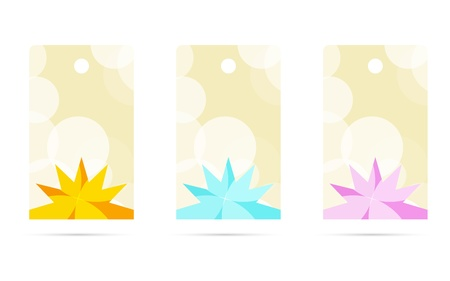 Set of three blank stylish prize labels / beauty tag Stock Vector - 18140596