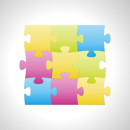 Blank abstract fresh looking background made out of puzzle elements   puzzle background Vector